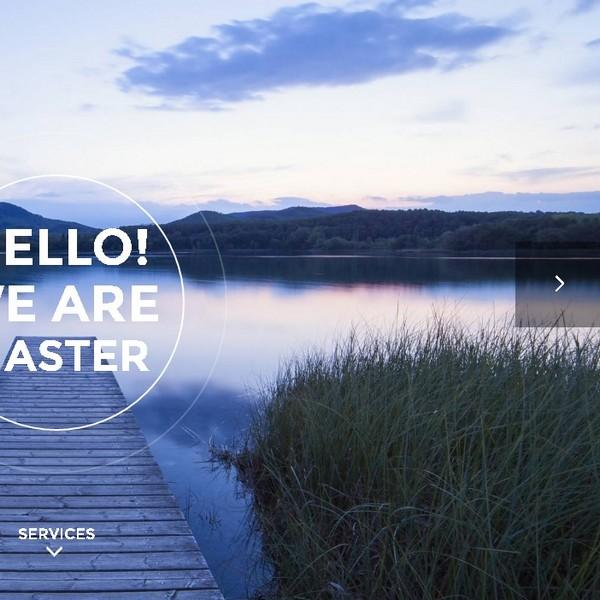 bigger company homepage responsive design presentation a8system