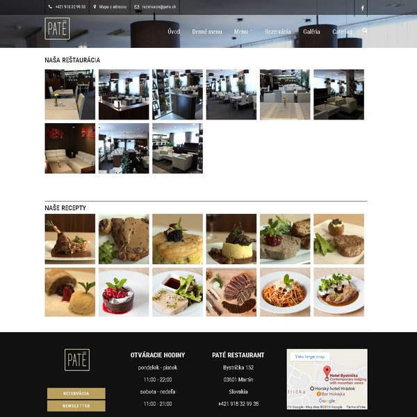 restaurant homepage responsive design presentation a8system